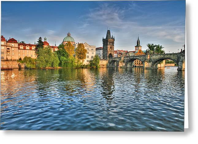 St Charles Bridge Greeting Cards - St Charles Bridge Prague Greeting Card by John Magyar Photography
