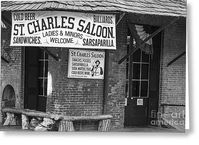 Saloons Greeting Cards - St Charles Saloon Greeting Card by David Millenheft