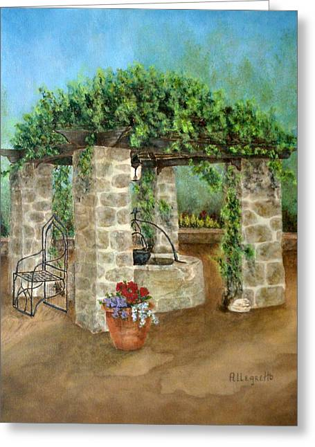 Stone House Mixed Media Greeting Cards - St. Clements Castle Greeting Card by Pamela Allegretto