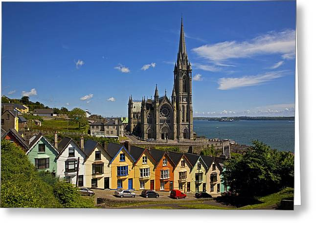 Dwelling Greeting Cards - St Colmans Cathedral, Cobh, County Greeting Card by Panoramic Images