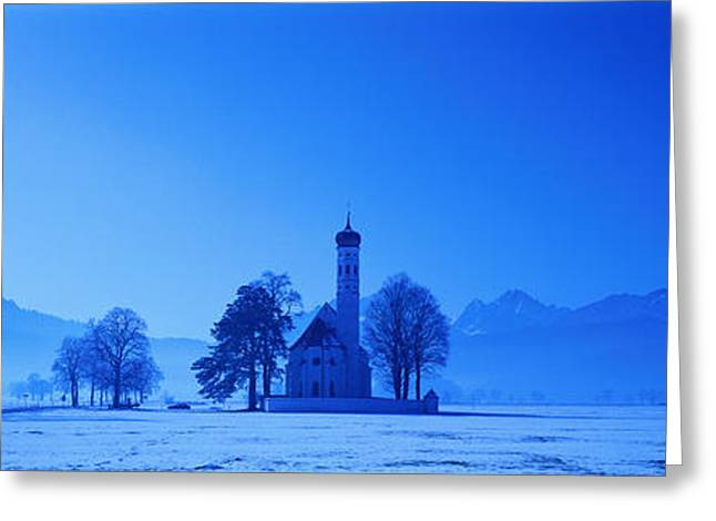 Sillouette Greeting Cards - St. Coloman Church Schwangau Germany Greeting Card by Panoramic Images