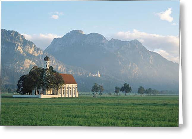 Bavaria Greeting Cards - St Colomans Church, Bavaria, Germany Greeting Card by Panoramic Images