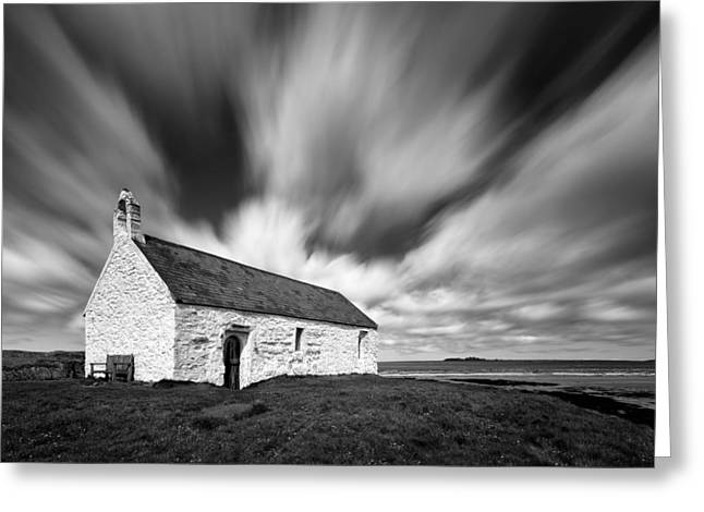 St Cwyfan's Church Greeting Card by Dave Bowman