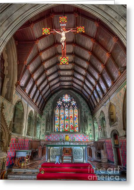 Altars Greeting Cards - St Davids Greeting Card by Adrian Evans