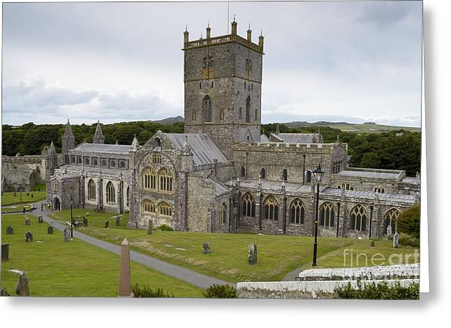 Outlook Greeting Cards - St Davids City Greeting Card by Wendy Wilton