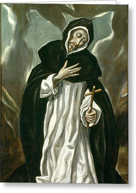 Bravery Greeting Cards - St Dominic Of Guzman Greeting Card by Celestial Images