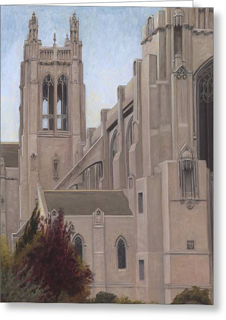 Saint Dominic Greeting Cards - St. Dominics Cathedral Greeting Card by Terry Guyer