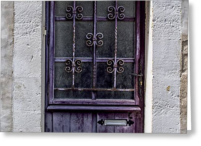 St Emilion Door Greeting Card by Nomad Art And  Design