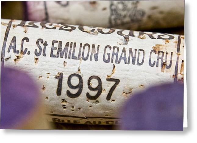 Wine Deco Art Photographs Greeting Cards - St Emilion Grand Cru Greeting Card by Frank Tschakert