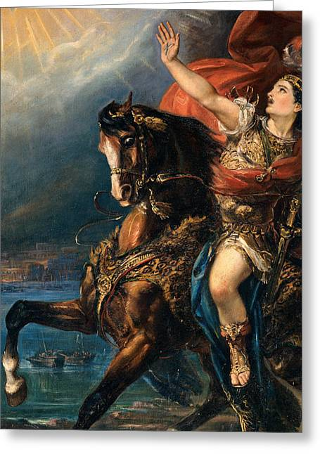 Up-armored Greeting Cards - St Ephysius on Horseback Greeting Card by De Belly Tommaso
