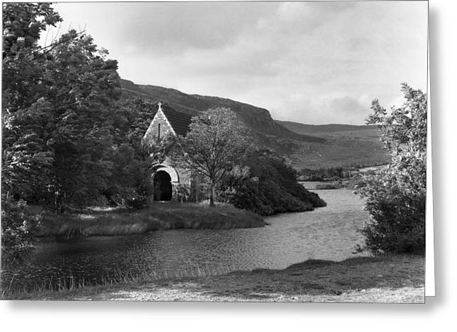 Gougane Barra Church Greeting Cards - St Finbarrs Monastery Cork 1954 Greeting Card by Irish Photo Archive