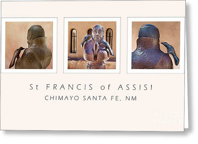 St Francis 360 Greeting Card by Elena Nosyreva