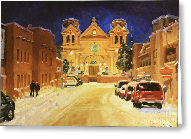Entry Greeting Cards - St. Francis Cathedral Basilica  Greeting Card by Gary Kim