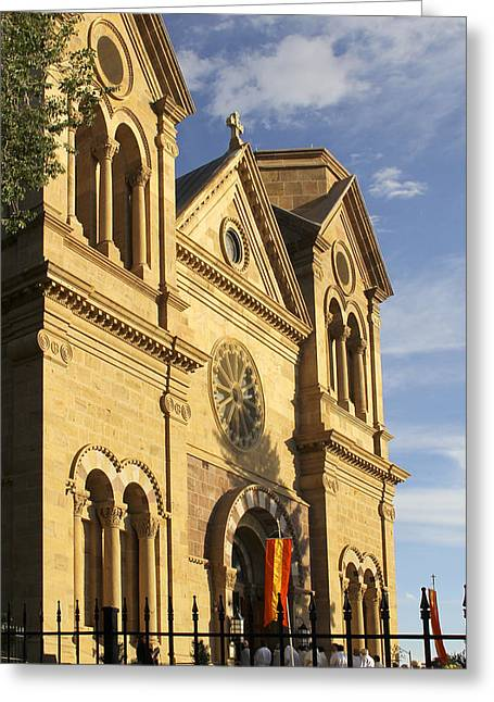 Francis Greeting Cards - St. Francis Cathedral - Santa Fe Greeting Card by Mike McGlothlen