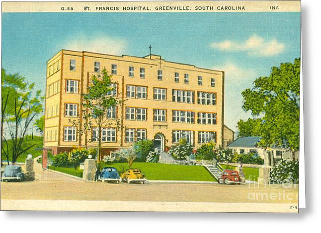 14th July Greeting Cards - St. Francis Hospital Greeting Card by Dale Powell