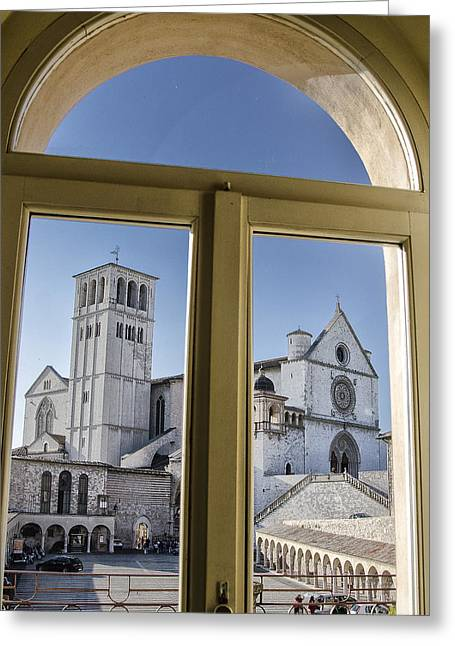 San Francesco Greeting Cards - Basilica of St Francis - Assisi Italy Greeting Card by Jon Berghoff
