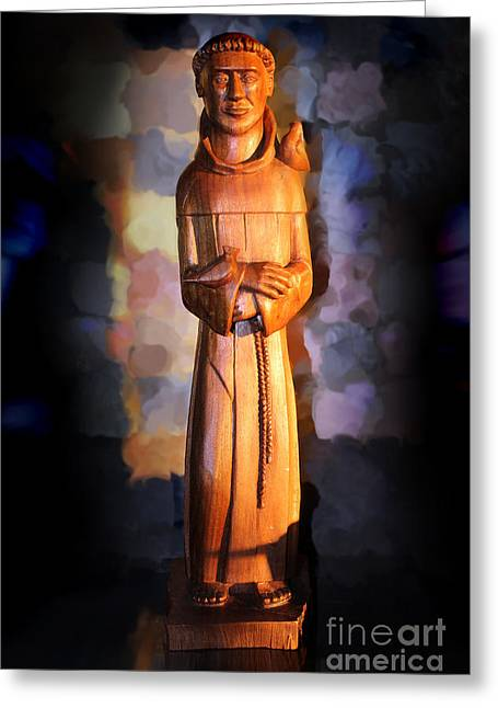 Saint Hope Greeting Cards - St. Francis of Assisi by George Wood Greeting Card by Karen Adams