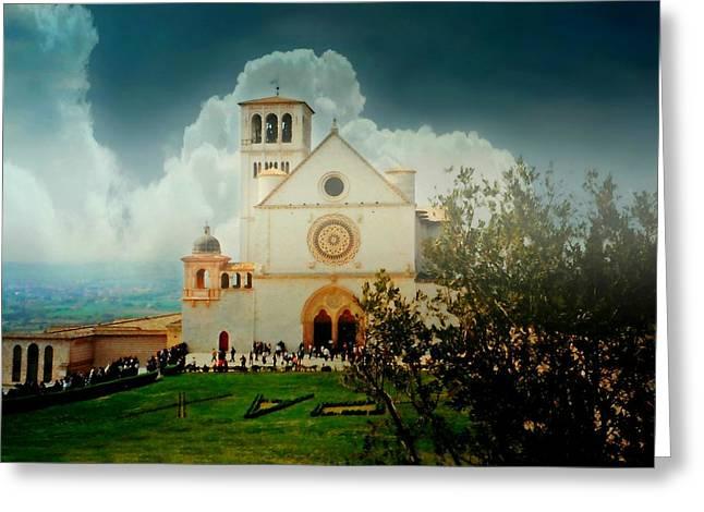 St Francis Of Assisi Greeting Cards - St. Francis of Assisi Greeting Card by Diana Angstadt
