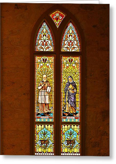 Gospel Greeting Cards - St Francis of Sales and St Monica Greeting Card by Christine Till