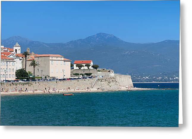St. Francois Beach And Old Town Greeting Card by Panoramic Images