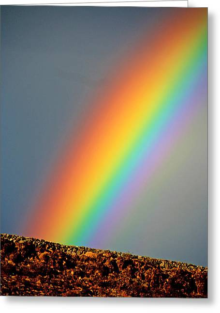 Gloaming Greeting Cards - St. George Rainbow Greeting Card by John Langdon