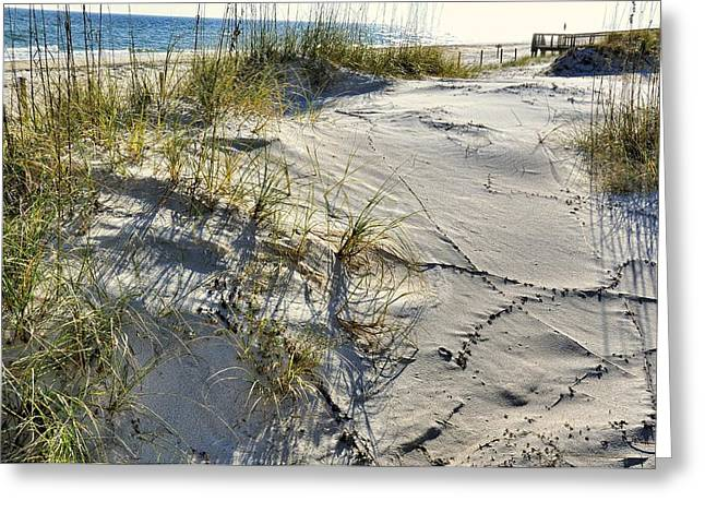Sea Oats Greeting Cards - St. George Sand Dunes Greeting Card by Jan Amiss Photography
