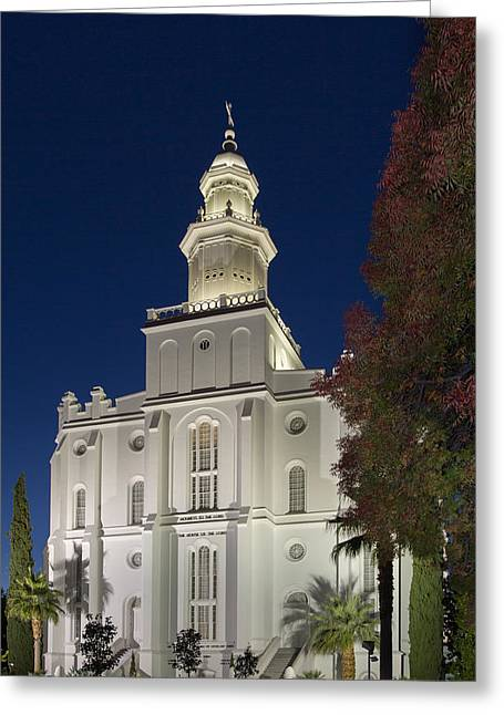 St. George Temple Greeting Cards - St. George Temple Greeting Card by David Anderson