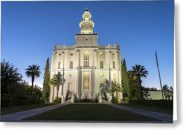St. George Temple Greeting Cards - St. George Temple Greeting Card by Dustin  LeFevre