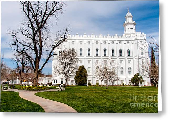 St. George Temple Greeting Cards - St. George Temple - Utah Greeting Card by Gary Whitton