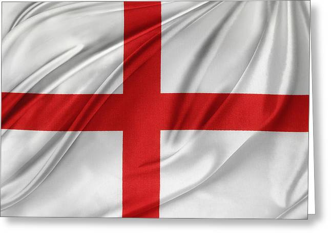 Textile Photographs Photographs Greeting Cards - St Georges cross Greeting Card by Les Cunliffe