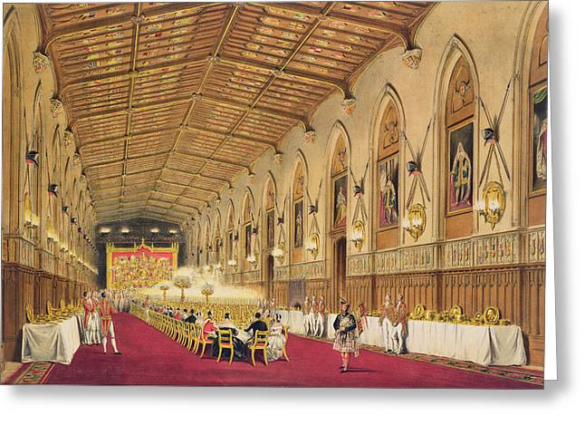 Neo Greeting Cards - St Georges Hall at Windsor Castle Greeting Card by James Baker Pyne