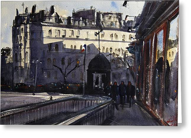 Spectacular Paintings Greeting Cards - St Germain Des Pres Greeting Card by James Nyika