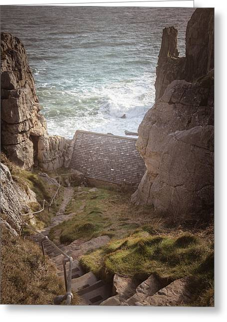 Chapel Photographs Greeting Cards - St Govans Chapel Greeting Card by Chris Fletcher