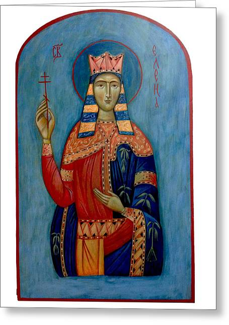 Russian Icon Paintings Greeting Cards - St. Helen Greeting Card by Basia Mindewicz