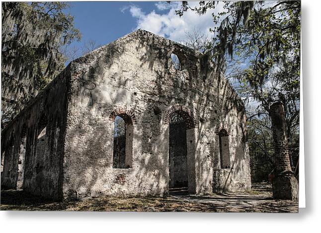Ladys Island Greeting Cards - St Helena Chapel of Ease 2 Greeting Card by Steven  Taylor