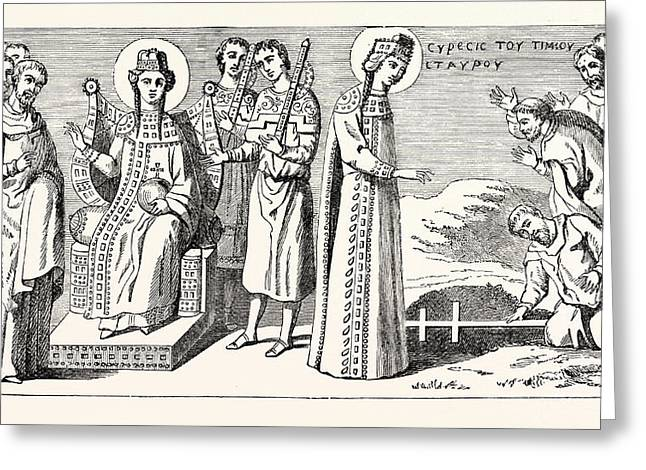 St. Helena Discovering The True Cross Greeting Card by English School