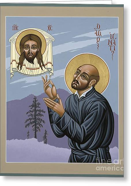 Harts Paintings Greeting Cards - St. Ignatius Amidst Alaska Greeting Card by William Hart McNichols
