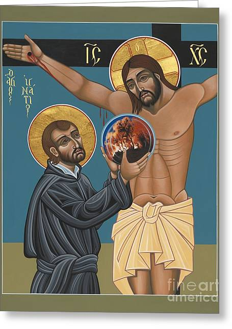 Recently Sold -  - 21st Greeting Cards - St. Ignatius and the Passion of the World in the 21st Century 194 Greeting Card by William Hart McNichols