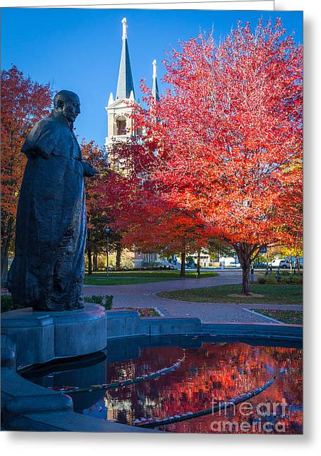 Academic Art Greeting Cards - St Ignatius at Gonzaga Greeting Card by Inge Johnsson