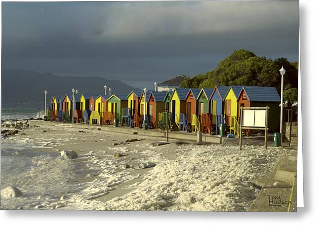 Tom Hudson Greeting Cards - St James Beach Greeting Card by Tom Hudson