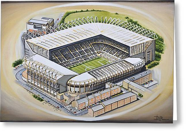 Soccer Greeting Cards Greeting Cards - St  James Park - Newcastle United Greeting Card by D J Rogers