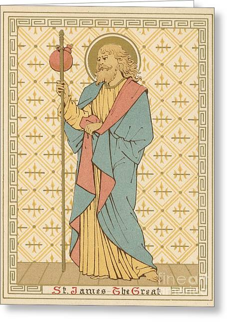 Red Letter Days Greeting Cards - St James the Great Greeting Card by English School