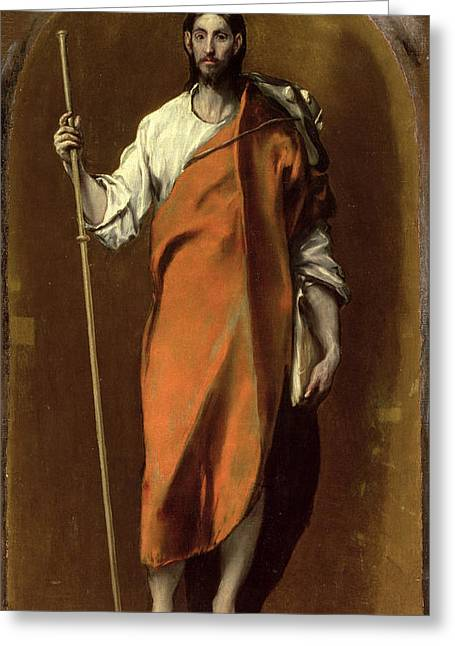 Popular Beliefs Greeting Cards - St James the Greater Greeting Card by El Greco