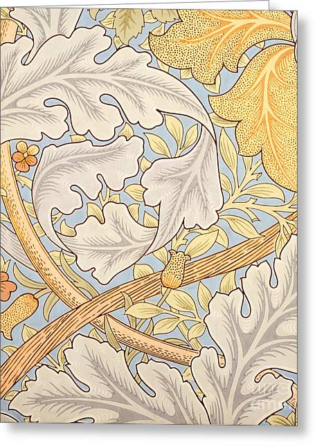 Repeat Drawings Greeting Cards - St James Wallpaper Design Greeting Card by William Morris