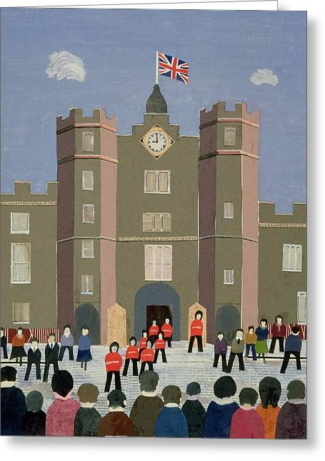 Clock Greeting Cards - St. Jamess Palace Collage Greeting Card by William Cooper