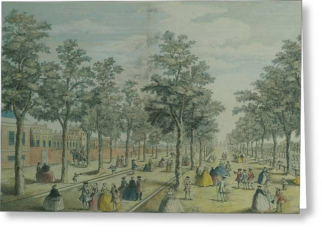 C18th Drawings Greeting Cards - St. Jamess Park Taken Near The Stable Greeting Card by English School