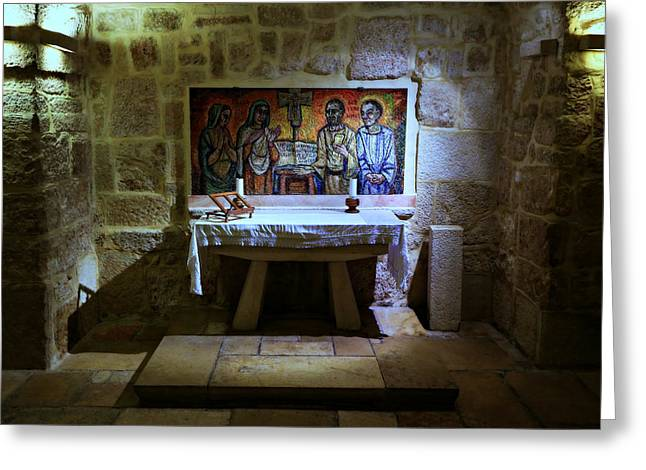 Bible Greeting Cards - St. Jerome Chapel Greeting Card by Stephen Stookey