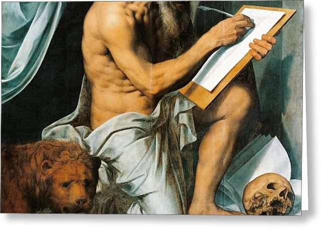 St. Jerome Greeting Card by Willem Key