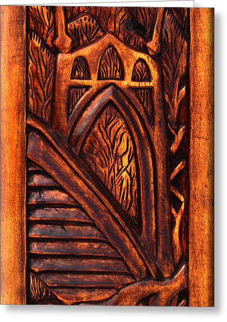 Pines Reliefs Greeting Cards - St. John BridgeRelic Greeting Card by Carlo Olkeriil