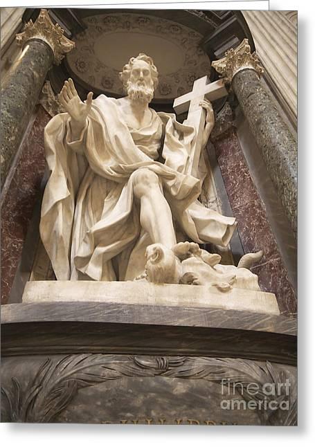 Lateran Greeting Cards - St John Lateran Basilica Greeting Card by Brenda Kean